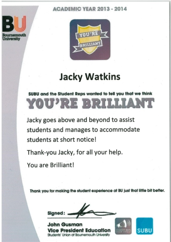 Jacky Watkins is Brilliant