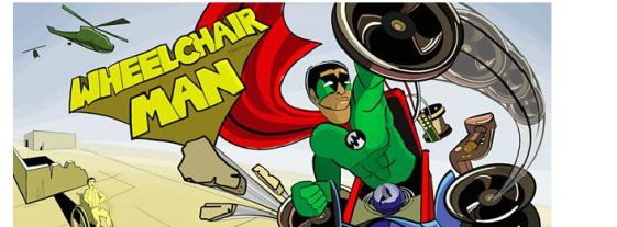 wheelchair man comic book